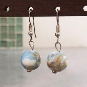 Handmade Bahamian Geode Drop Earrings